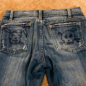 Citizen of Humanity Jeans with Bunny &Skull